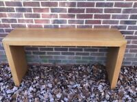 Real solid oak console table
