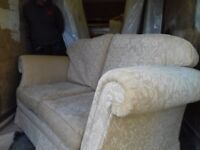 High Quality Sofa and chair in Cream, FREE delivery From smoke and Pet free home