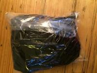 2 pairs of size 12/14 ankle length black leggings - brand new/unopened!