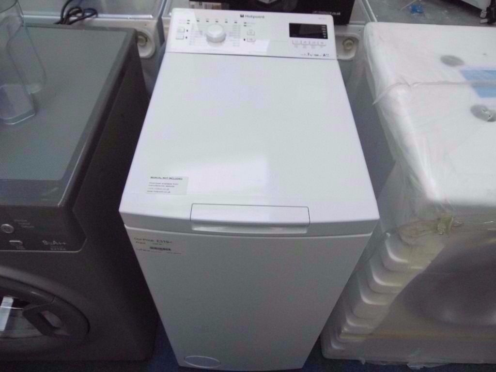 Hotpoint Top Loading Washing Machine Ex Display White Hotpoint 7 Kg 1200 Spin Top Loading Washing