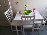 IKEA TABLE & 4 CHAIRS