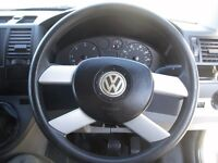 VW T5 TRANSPORTER SPORT STEERING WHEEL, COMPLETE WITH AIRBAG