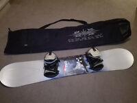 TMS Ride snowboard (159 ) with bindings and bag