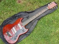 Vintage '70's Kay K2T Electric Guitar with matching amp