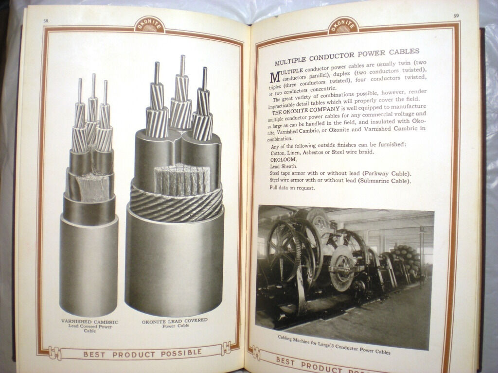 OKONITE Handbook Catalog Insulated Electric Electrical Wire Cable ...