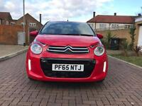 2016 Citroen C1 1.2 VTI Flair 5dr Red Parking camera Cruise Control very low mileage