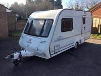 Compass Rallye GT 2 berth caravan with awning and winter cover