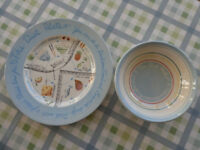 Brand New Diet Plate and Bowl