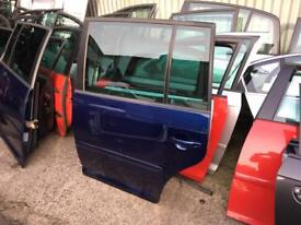 2009 Vw touran passenger side rear door in blue colour fits from 03/2009