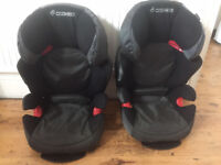 Two Maxi Cosi Childrens Car Seats