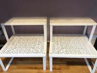 Ikea variera shelf's x 2 storage inserts stacking