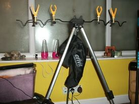 4 rod telescopic tripod