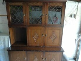 Two Piece Living Room Cabinet