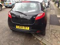 2008 08reg Mazda 2 1.3 Petrol Black 3 Door Low Insurance Good Mpg