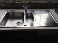 Stainless steel sink & tap