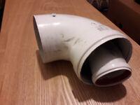 Flue Vent - 90 Degree Bend (for Boiler Flue Pipe)