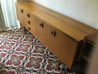 Two retro sideboards with cupboards and drawers