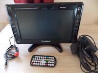 """10"""" freeview 12v tv ideal camping etc"""