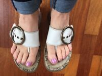 Fly London - White Sandals