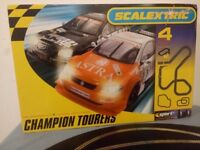Scalextric Champion Tourers Rare Set with 2 Cars and Track Working Boxed