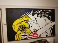 Roy Lichtenstein Painting (hand painted acrylic)