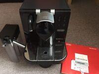Nespresso delonghi lattissima coffee machine.