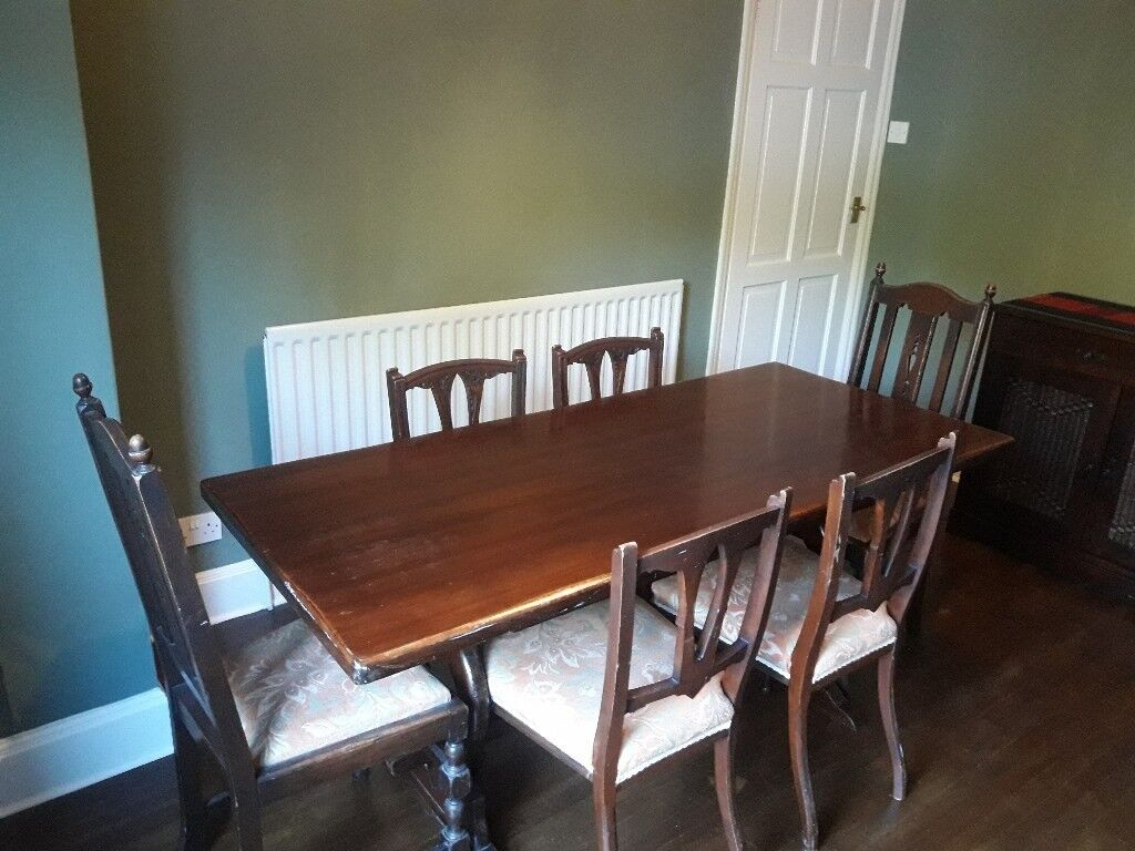 Mahogany Dining Room Table And 4 Chairs South East London