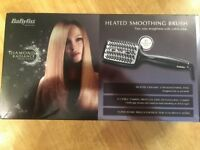 BaByliss Diamond Radiance Heated Smoothing Brush - Used Once - Box, Gloves, Velvet Bag, Manual, £25