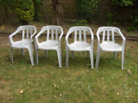 Patio Garden Set 4 Chairs FREE LOCAL DELIVERY
