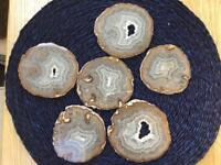 Sliced Agate Coasters Cost £30