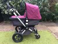 Stunning Bugaboo Cameleon 2nd Generation in dark grey and deep purple. Immaculate condition