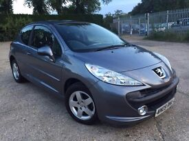 PEUGEOT 207 GREY 2009 NEW M.O.T 37,000 MILES ONLY CAT C SUPERB CONDITION INSIDE AND OUT 