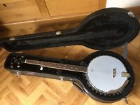 5 String Rally Banjo with Stagg Hard Case