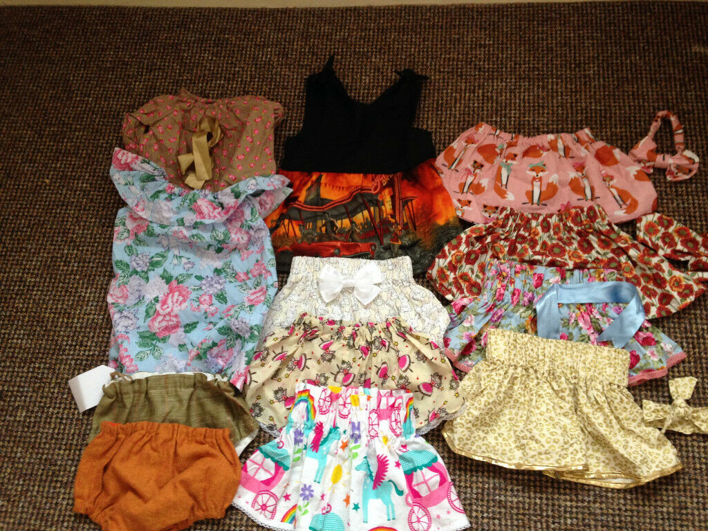 b0fe1ad14 Beautiful HandMade Baby Girl Bundle Skirts Dresses headbands sz 6 ...