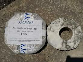 Black butyl jointing tape 30x30x1.5mm DPM jointing