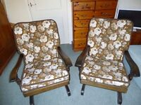 Rocking Chairs Two matching country cottage rockers