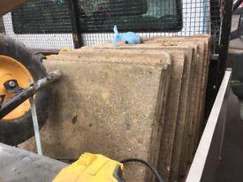 14 reclaimed concrete slabs