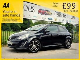 VAUXHALL CORSA 1.4 BLACK EDITION 3d 118 BHP Apply for finance Online today! (black) 2014