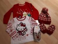 Girl's 18-24mth small Christmas bundle of clothes