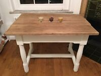 Shabby Chic Table and Chairs - Solid Wood - Rustic Farmhouse Style