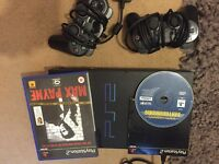 Ps2 with 2 controllers and max Payne game