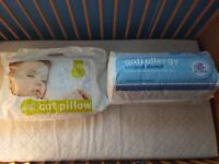 cot bed + new duvet, new pillow, used soft toy