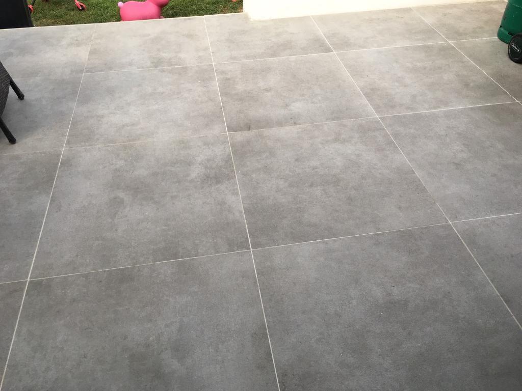 Large Grey Concrete Effect Floor Tiles