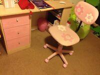 Height-adjustable rotating chair