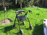 4 Wheel walking aid Rollator 20 Stone M39634 with Basket - immaculate