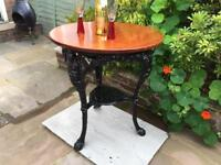 Cast Iron Britannia Pub Table
