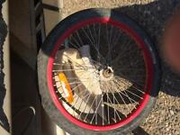Bmx tires with tube and all the bolts plus 1 peg