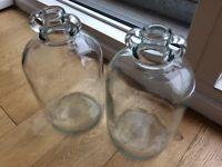 2 large glass jars