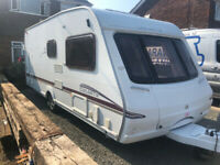 6 berth family Touring Caravan with Air Awning, solar, Auto motor-mover