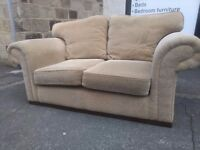 Chunky high quality beige 2 seater sofa. Free delivery